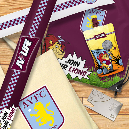 Aston Villa branded merchandise